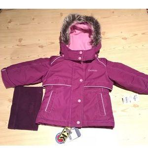Osh Kosh Girls 12M Purple Winter Puffer Jacket NWT